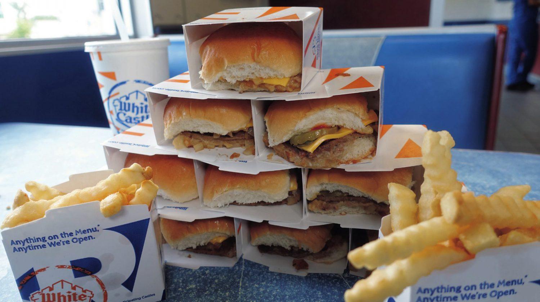 全米で唯一? ハンバーガーでお城がつくれるお店。