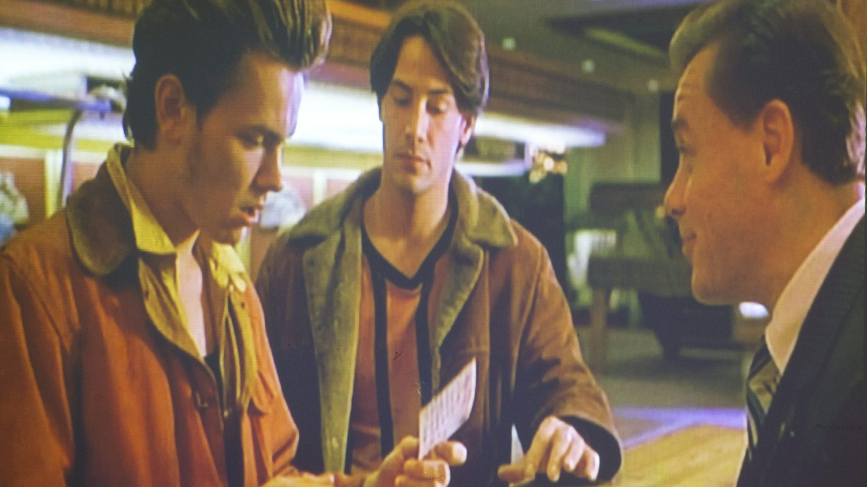 キアヌ・リーブスのランチジャケット