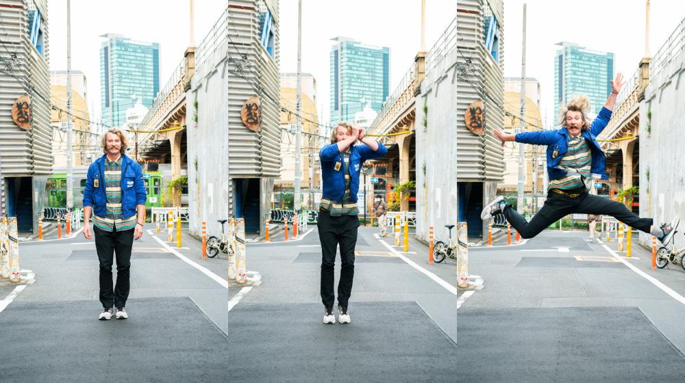 「3,2,1, JUMP!」 ジャンプで人を幸せにする?! FREITAGのハッピーマン現る!